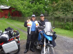 I couldn't do it all alone--especially not 10,230 miles up to Alaska on my motorcycle. Here's my side-kick, Tonto. I mean Jonny.