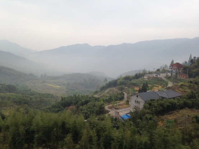The mountains in China, about 4 hours outside of Shanghai