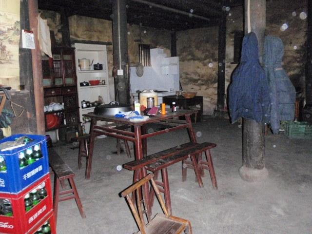 Inside the beekeeper's house.