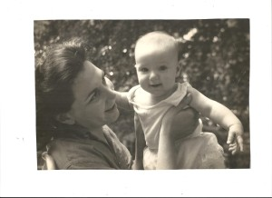 My mother, Gladys Katcher Bletter, holding me.