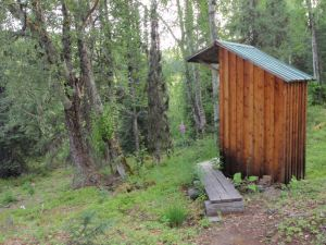 Sometimes I feel like there's no better place for my writing than an Alaskan outhouse