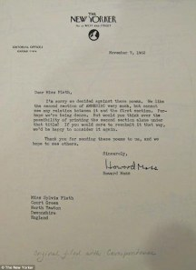 The New Yorker's Rejection Letter to Sylvia Plath
