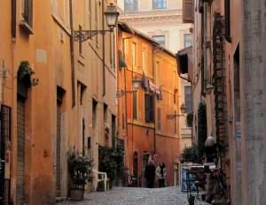 Jewish Ghetto street in Rome