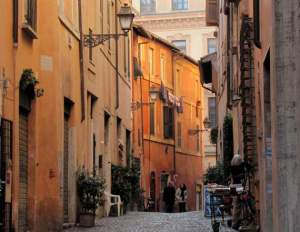 Jewish Ghetto street in Rome