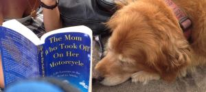 This dog belongs to a book club that read my book!